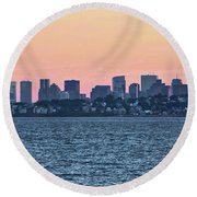 Twilight Boston Round Beach Towel