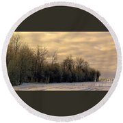 Twilight Round Beach Towel by Elfriede Fulda