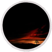 Twilight Glow Round Beach Towel