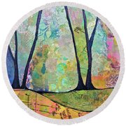 Twilight I Round Beach Towel