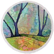 Twilight IIi Round Beach Towel