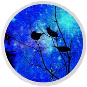 Twilight Round Beach Towel by MaryLee Parker
