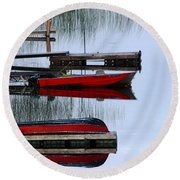 Twilight Reflections Round Beach Towel by Debbie Oppermann