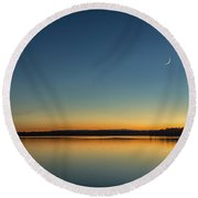 Round Beach Towel featuring the photograph Twilight by Rod Best