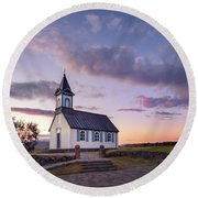 Twilight Sanctuary Round Beach Towel