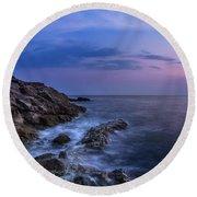 Twilight Sea Round Beach Towel