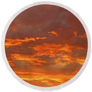 Twilight Sky Round Beach Towel by Val Miller