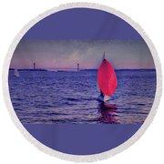 Twilight Spinnaker Round Beach Towel