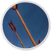 Twin Arrows Round Beach Towel by David Cote