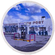 Twin Arrows Trading Post Round Beach Towel