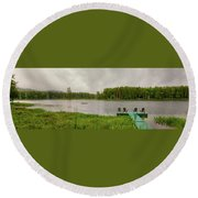 Round Beach Towel featuring the photograph Twin Ponds Landscape by David Patterson