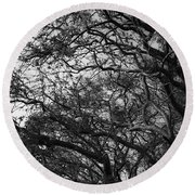 Twirling Branches Round Beach Towel