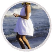 Twirling  Round Beach Towel by Mary Ward
