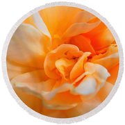Twisted Dreamsicle Round Beach Towel