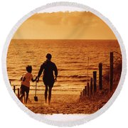 Two At Sea Round Beach Towel