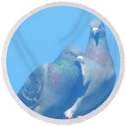 Two Birds In Spring Round Beach Towel