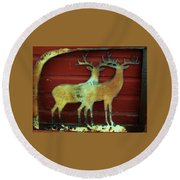 Two Bucks 1 Round Beach Towel