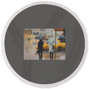 Two Curbside Round Beach Towel