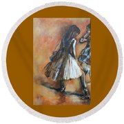 two dancers II after Degas Round Beach Towel