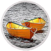Two Dories Round Beach Towel
