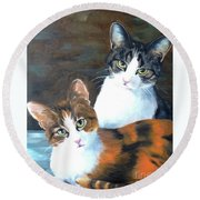 Two Friends Round Beach Towel