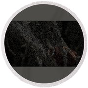 Two Hands On The Piano Round Beach Towel