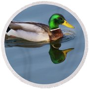 Two Headed Duck Round Beach Towel