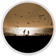 Two In Sun Round Beach Towel