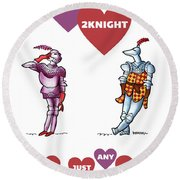 Two Knight Two Knight Round Beach Towel