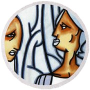 Two Ladies Round Beach Towel