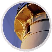 Two Lights, Cape Elizabeth Round Beach Towel