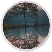 Round Beach Towel featuring the photograph Two Loners by Davor Zerjav