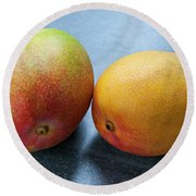 Two Mangos Round Beach Towel by Elena Elisseeva