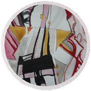 Two Musicians Round Beach Towel