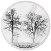 Round Beach Towel featuring the photograph Two... by Nina Stavlund