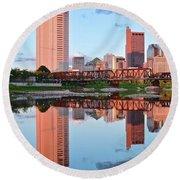 Round Beach Towel featuring the photograph Two Of Everything by Frozen in Time Fine Art Photography