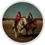Two On The Road Round Beach Towel