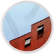 Two Open Windows- Nashville Photography By Linda Woods Round Beach Towel