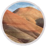 Two Painted Hills Round Beach Towel by Greg Nyquist
