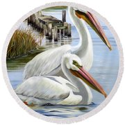 Two Part Harmony Round Beach Towel