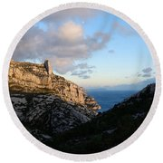 Two Point View Round Beach Towel