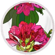 Two Rhododendrons Round Beach Towel