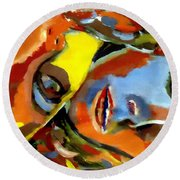 Two Souls Round Beach Towel