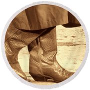 Two Step Round Beach Towel by American West Legend By Olivier Le Queinec