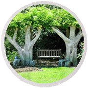 Two Tall Trees, Paradise, Romantic Spot Round Beach Towel