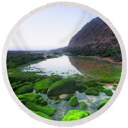 Round Beach Towel featuring the photograph Two Times by Edgar Laureano