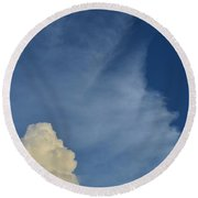 Two Tone Clouds 9384 Round Beach Towel