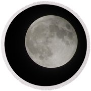 Two-tone Gray Moon Round Beach Towel