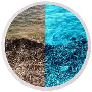 Two Tone Marine Round Beach Towel