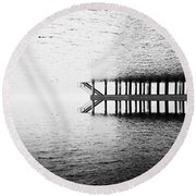 Round Beach Towel featuring the photograph Two Worlds by Chevy Fleet